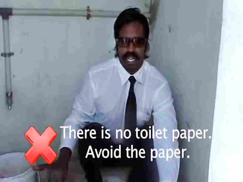 Still from Wilbur Sargunaraj - How to Use an Eastern Toilet on YouTube