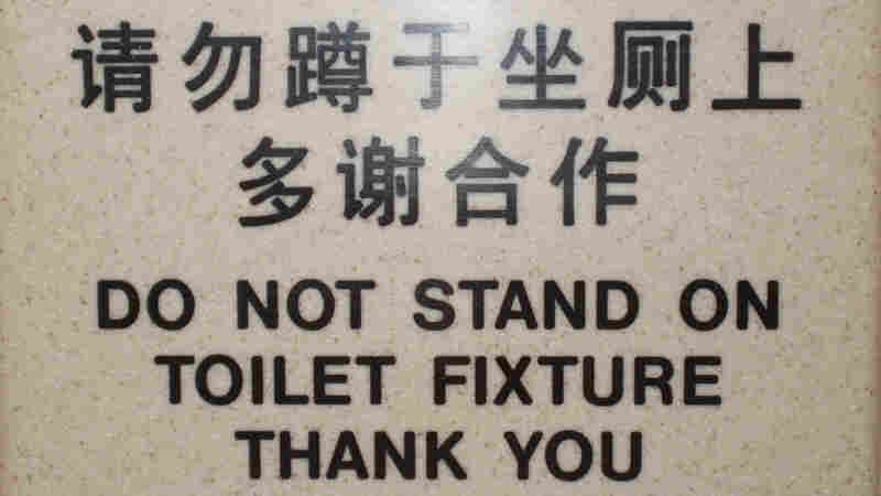 Toilets contain different messages around the world.