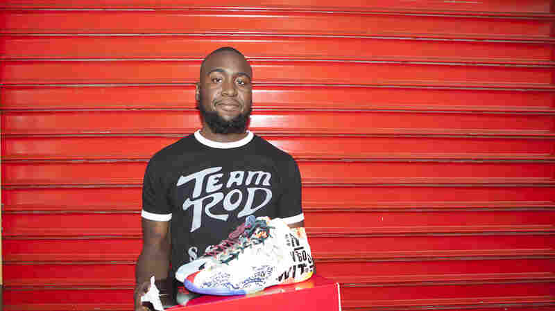 "Shirod Ince stood in line for more than two days to buy the Lebron 11 ""What The LeBron."" He bought the sneakers for $250 and instantly sold them for $500."