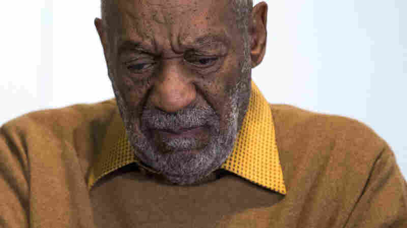 "Entertainer Bill Cosby pauses during a news conference. Cosby's attorney said Sunday that Cosby will not dignify ""decade-old, discredited"" claims of sexual abuse with a response."