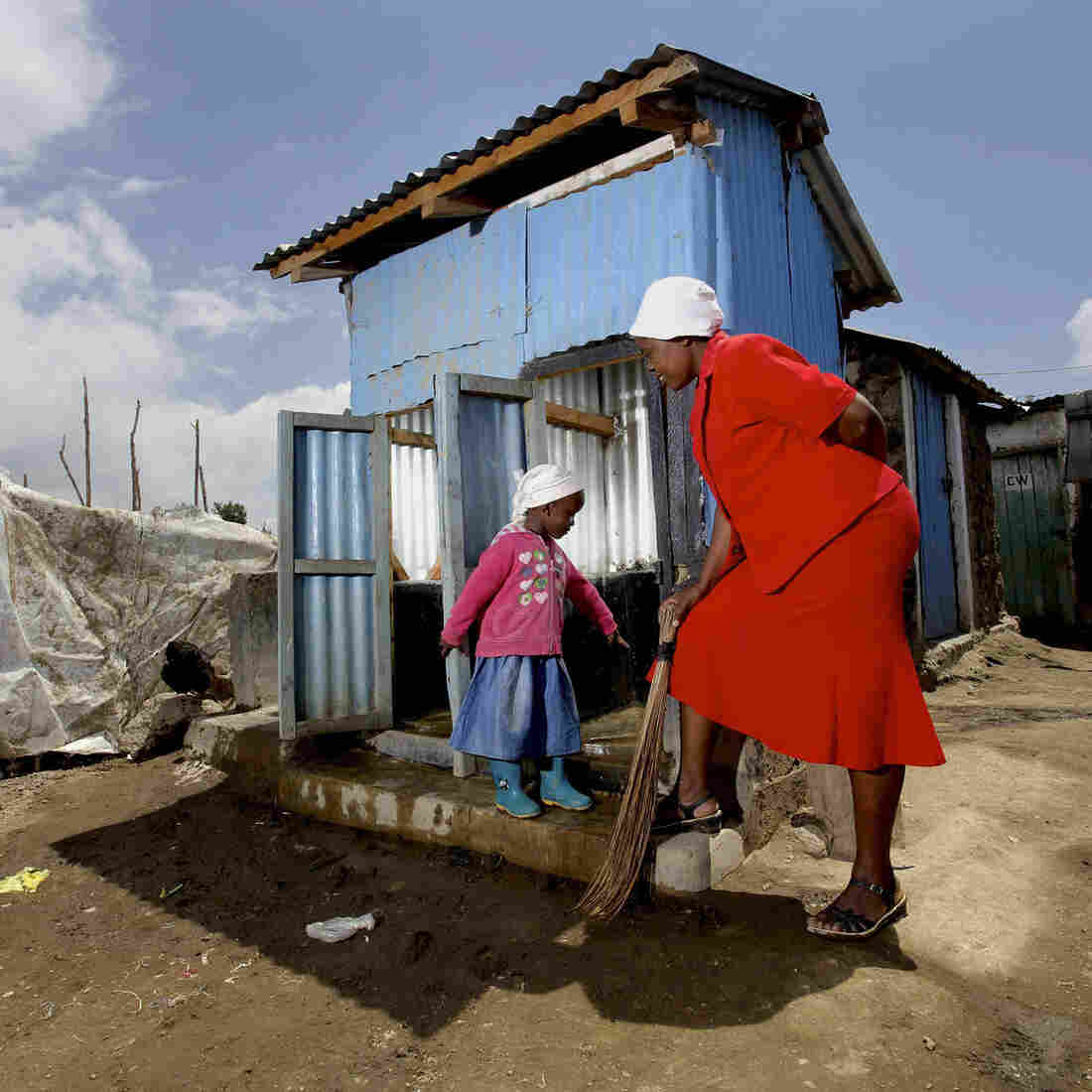"""""""Parents enroll their kids here because of our child-friendly toilets,"""" says Eunice, the co-founder of a Kenyan school with latrines designed specially for kids."""