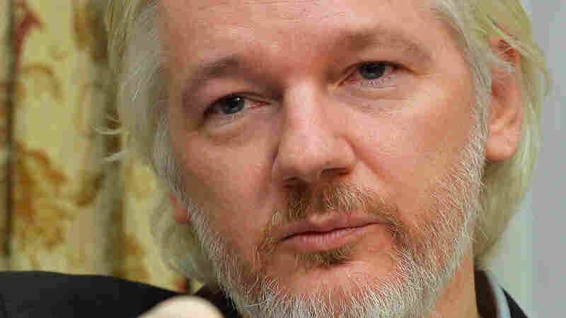 WikiLeaks founder Julian Assange attends an August news conference at the Ecuadorean Embassy in