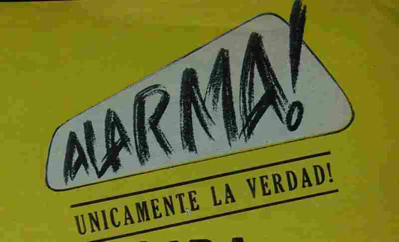 Librettist Ruben Ortiz Torres took inspiration from Mexican tabloid Alarma! Unicamente la verdad!