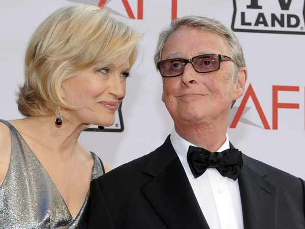 Journalist Diane Sawyer and director Mike Nichols arrive at the AFI Lifetime Achievement Awards honoring Nichols on June 10, 2010, in Culver City, Calif. Nichols died Wednesday at the age of 83.