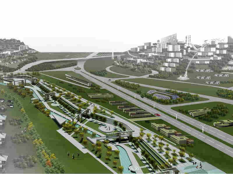 """A rendering of Turkey's first """"eco-city,"""" will be founded between Gaziantep and Kilis province on Turkey's border with Syria in the country's southern Gaziantep region."""