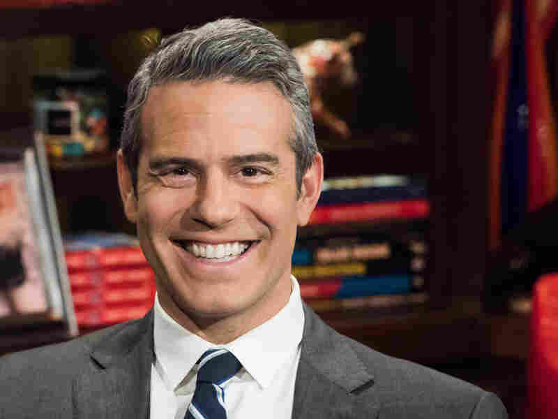 Andy Cohen poses for a portrait on the set of his show, Watch What Happens Live, in New York.