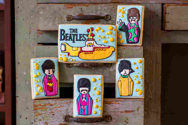 Brittanie Reed and her mother, Wendy Fitt, the two pastry chefs behind Snickety Snacks, took their inspiration for these sugar cookies from a series of Beatles finger puppets by the artist Hanasaurusrex.