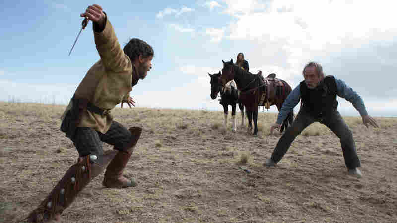 """""""I want it to be folksy, but surrounded by madness,"""" director Tommy Lee Jones told The Homesman's composers."""