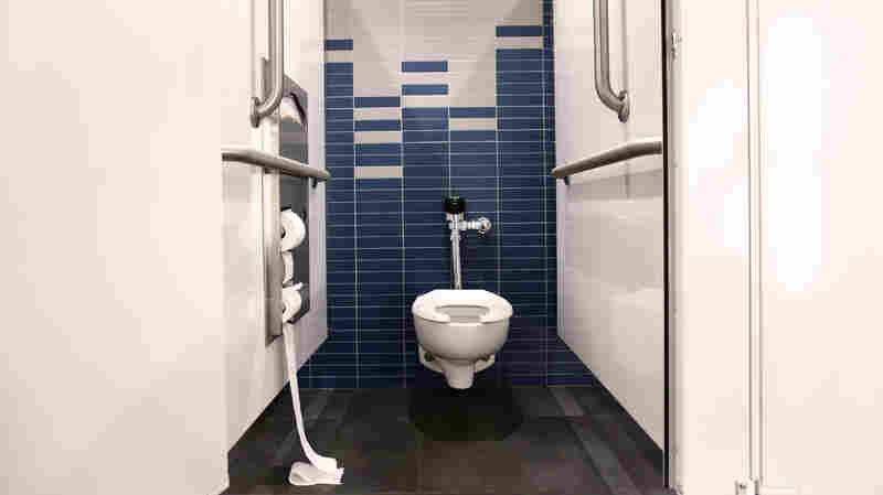 Even cleaning a bathroom daily didn't much affect the make-up of the community of microbes living there, scientists say.