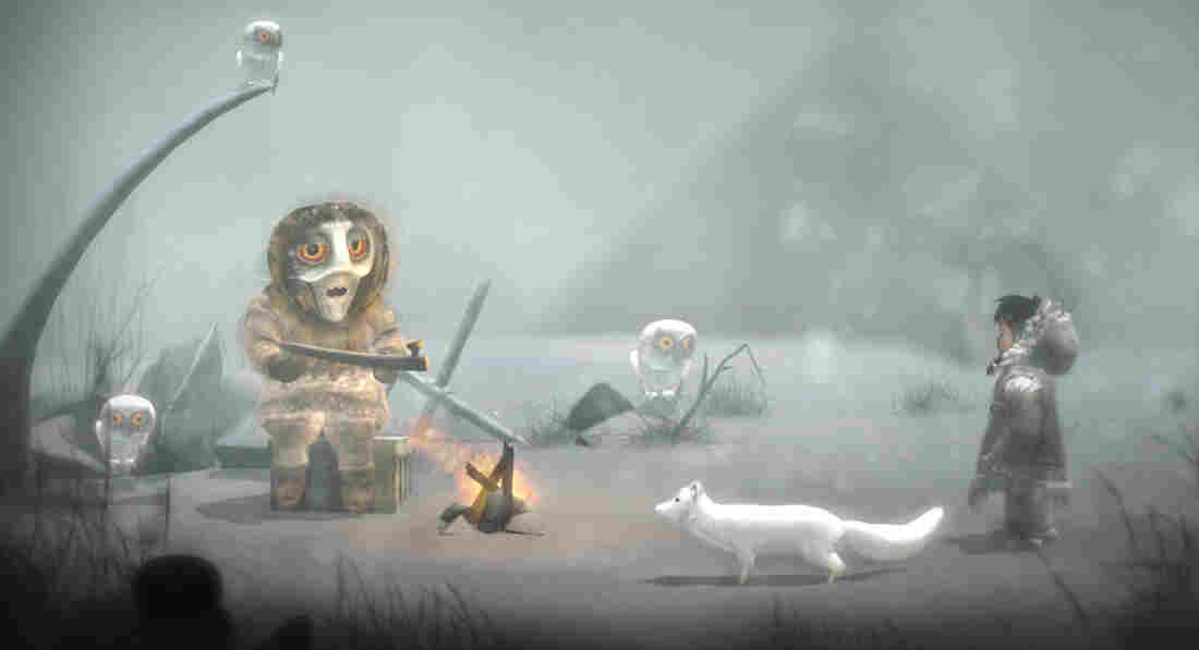 The story in Never Alone is based on a Native Alaskan legend about a quest to end a never-ending blizzard.