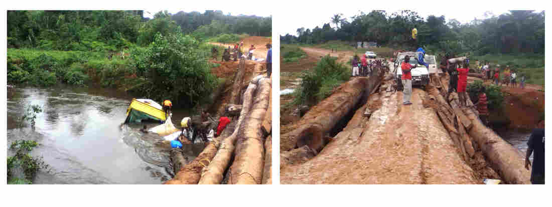 The poor condition of roads has hampered the Ebola response in remote parts of Liberia.