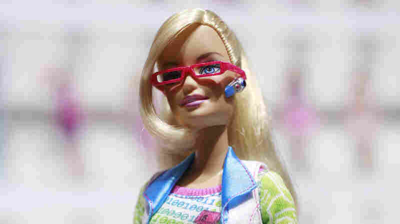 Computer Engineer Barbie is shown at the New York Toy Fair in New York. Critics took issue this week with a book that portrays Barbie needing help from boys in order to make a video game and fix a virus.