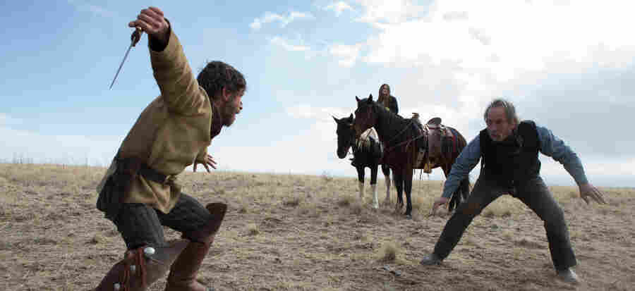 """I want it to be folksy, but surrounded by madness,"" director Tommy Lee Jones told The Homesman's composers."