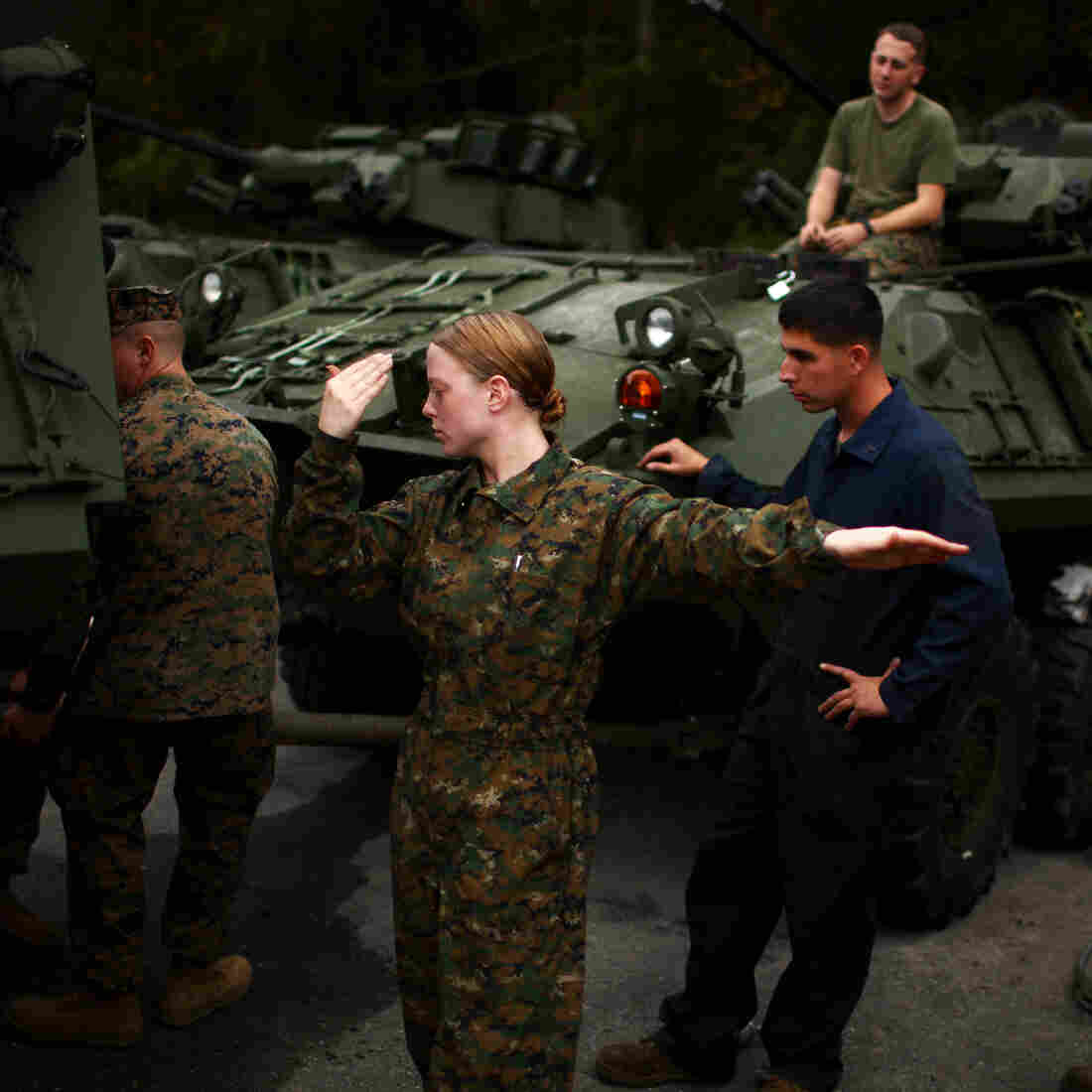 Women Sweat The Test To Show Marines They're Combat-Ready