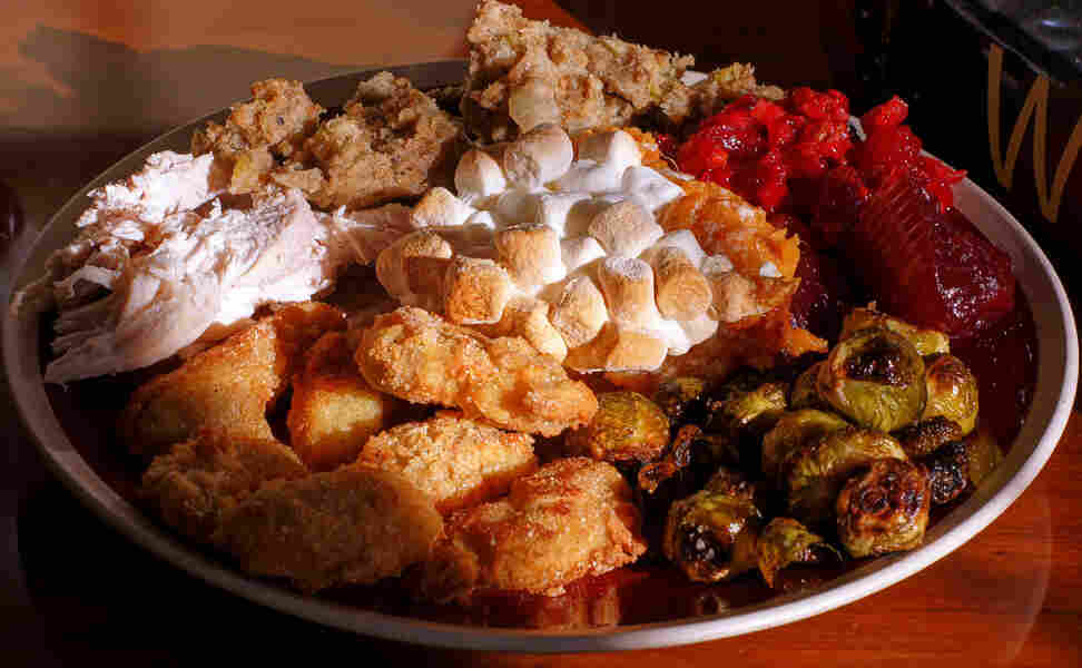 """NPR producer Olly Dearden is a fan of most classic Thanksgiving dishes, but calls sweet potatoes topped with marshmallows a """"culinary abomination."""""""