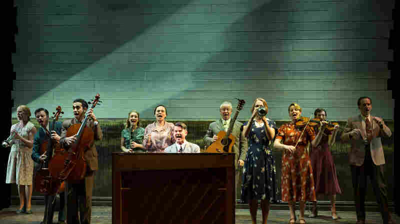 Rodgers and Hammerstein's 1947 musical Allegro is being revived by Classic Stage Company in New York. The original cast of Allegro included 100 performers; the new revival has 12.