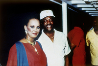 Barry with Rasheeda Moore, the ex-model who cooperated with the FBI in Barry's arrest in  1990.