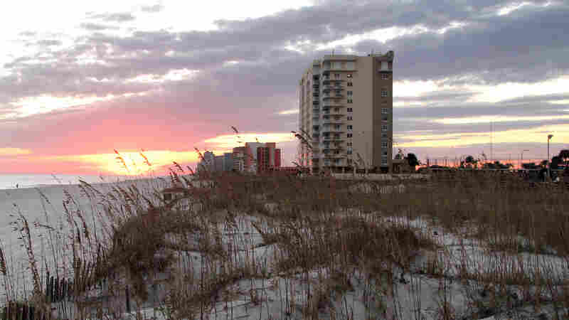 The Alabama gulf coast is heavily developed with c