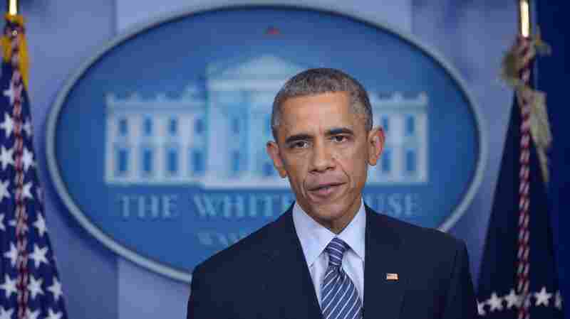 President Obama speaks Monday night following the announcement that there will be no indictment of Ferguson, Mo., police officer Darren Wilson for the shooting death of Michael Brown.