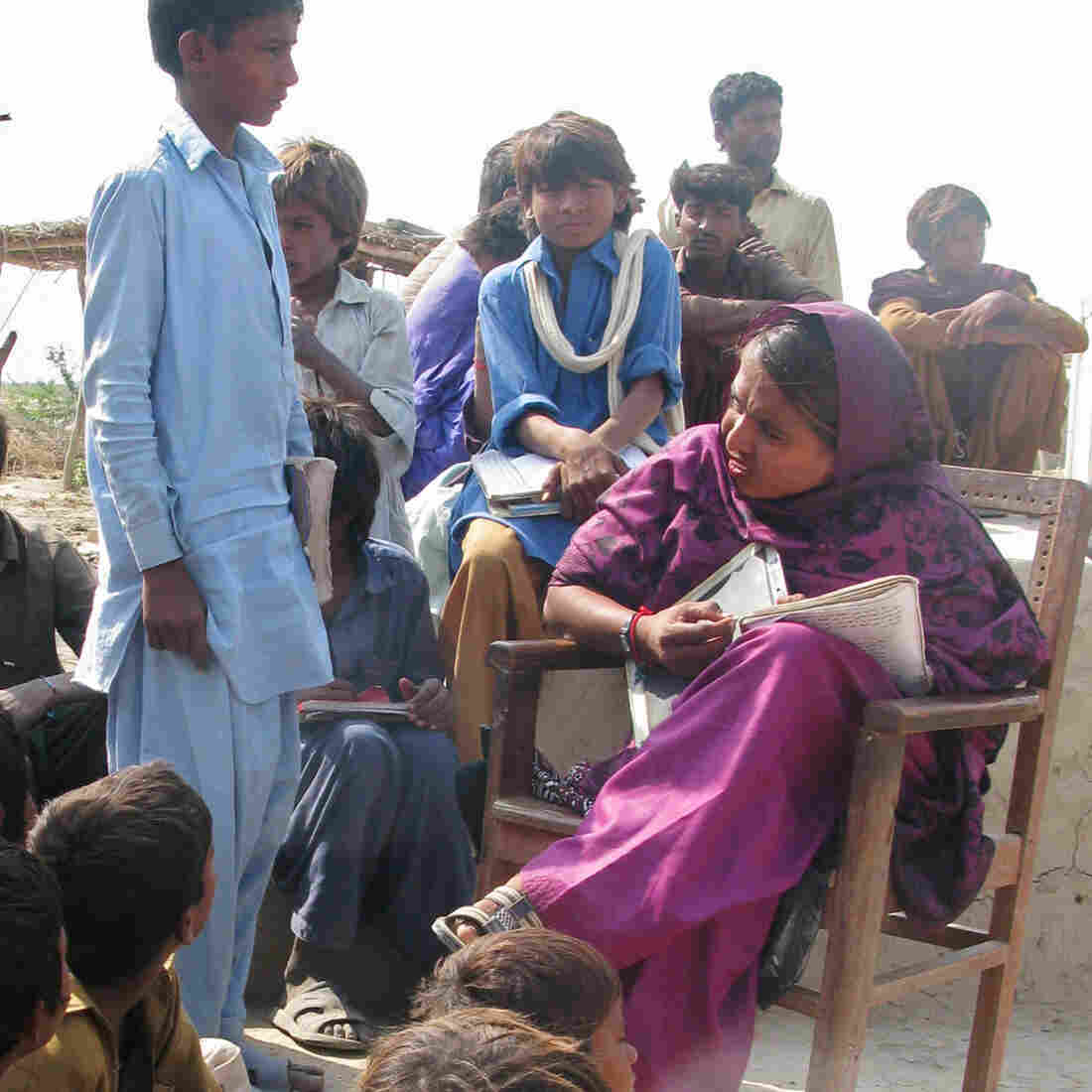 In Pakistan, A Self-Styled Teacher Holds Class For 150 In A Cowshed