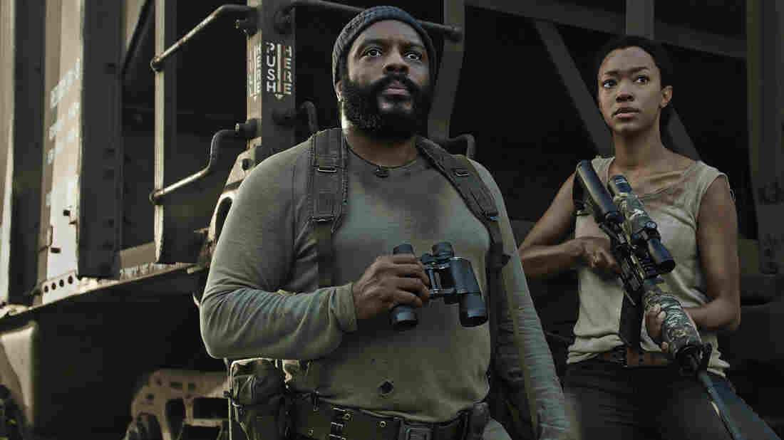 Chad Coleman, left and Sonequa Martin-Green star as Tyreese and Sasha on AMC's The Walking Dead.