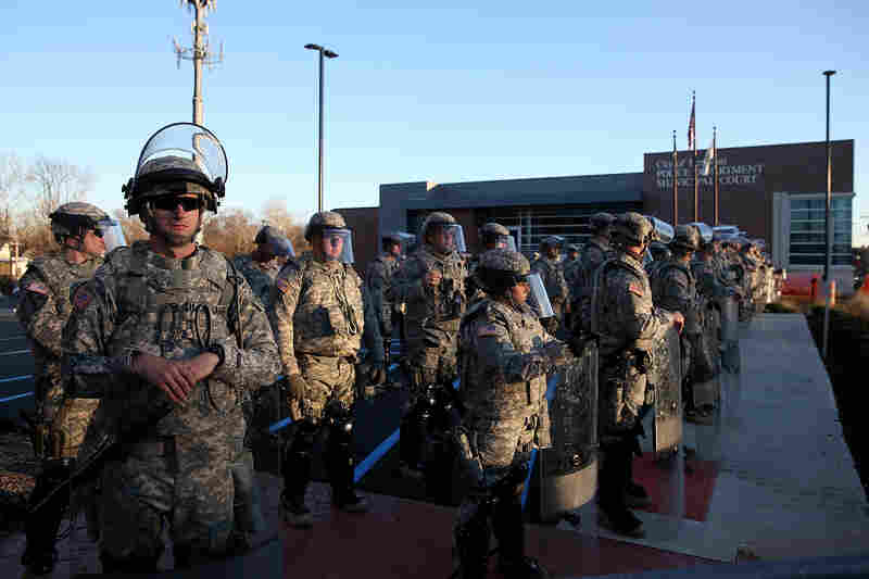 Over 2,000 Missouri national guardsmen are being deployed on Tuesday after demonstrators caused extensive damage in Ferguson and surrounding areas following a St. Louis County grand jury decision to not indict Ferguson police Officer Darren Wilson in the shooting of Michael Brown.