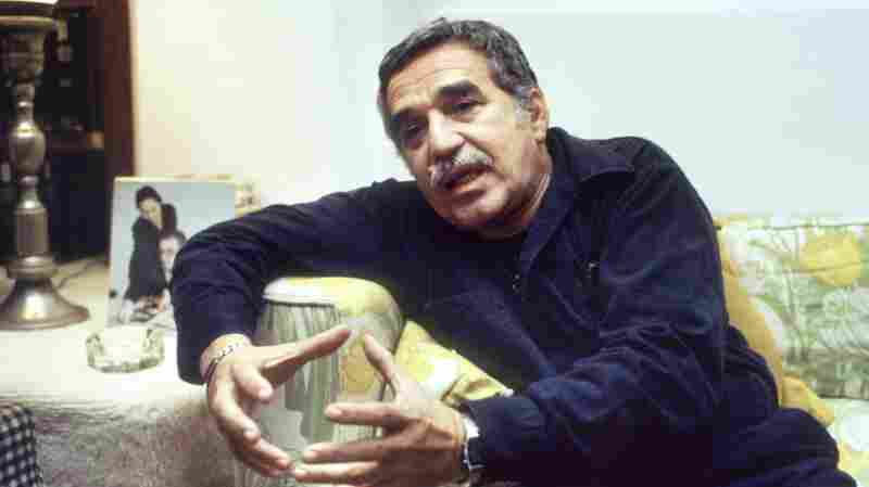 Gabriel Garcia Marquez, seen here in 1982, speaks to reporters following the announcement of his Nobel win. Among the materials in his archive are the many drafts he prepared for his Nobel acceptance speech.