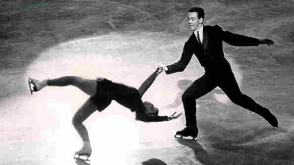 """Ronald And Vivian Joseph perform the """"Death Spiral' on Oct. 26, 1963, at the World Championships. The International Olympic Committee announced this week that the Josephs, who originally placed fourth in the 1964 Winter Games in Innsbruck, Austria, were in fact the bronze medalists."""