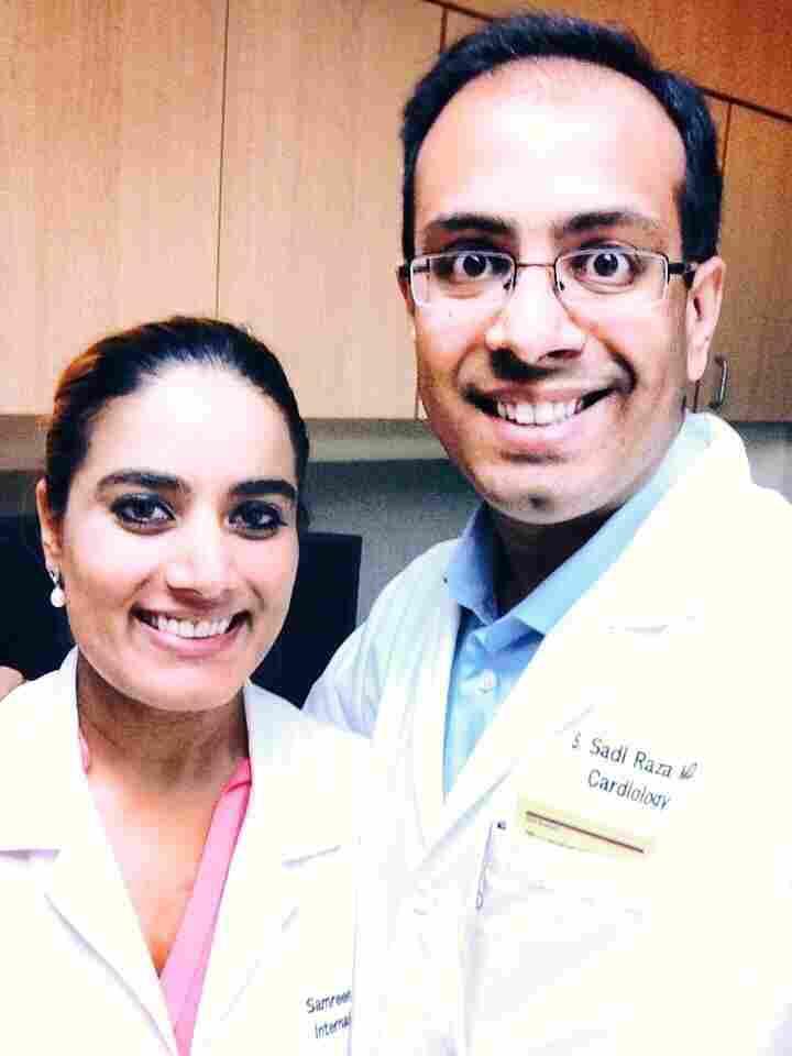 Dr. Sadi Raza with his wife, Dr. Samreen Raza.