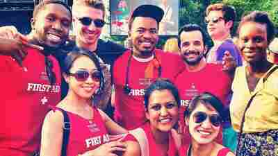 Medical residents helped with first aid at the Pitchfork Music Festival in Chicago, including Dr. Amy Ho, at bottom right.