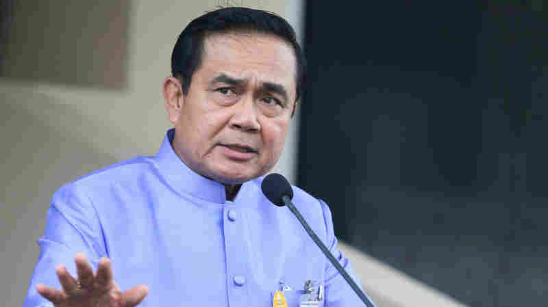 Thai Prime Minister Gen. Prayuth Chan-ocha speaks at a news conference after a Cabinet meeting at Government House in Bangkok, Thailand, earlier this month.