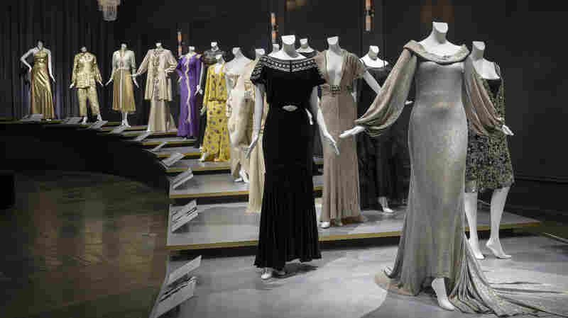 """""""Hollywood Glamour: Fashion and Jewelry from the Silver Screen"""" includes gowns designed by Chanel and Edith Head. The exhibit is open until March 8."""