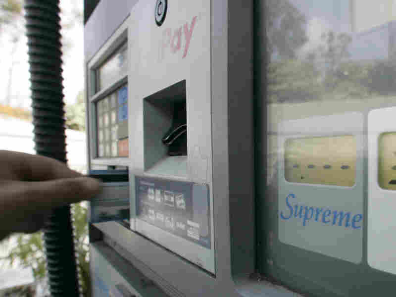 Gas thieves secretly install skimming devices inside gas pumps to lift card numbers. Then, they use counterfeit credit cards to buy hundreds of gallons worth of fuel.
