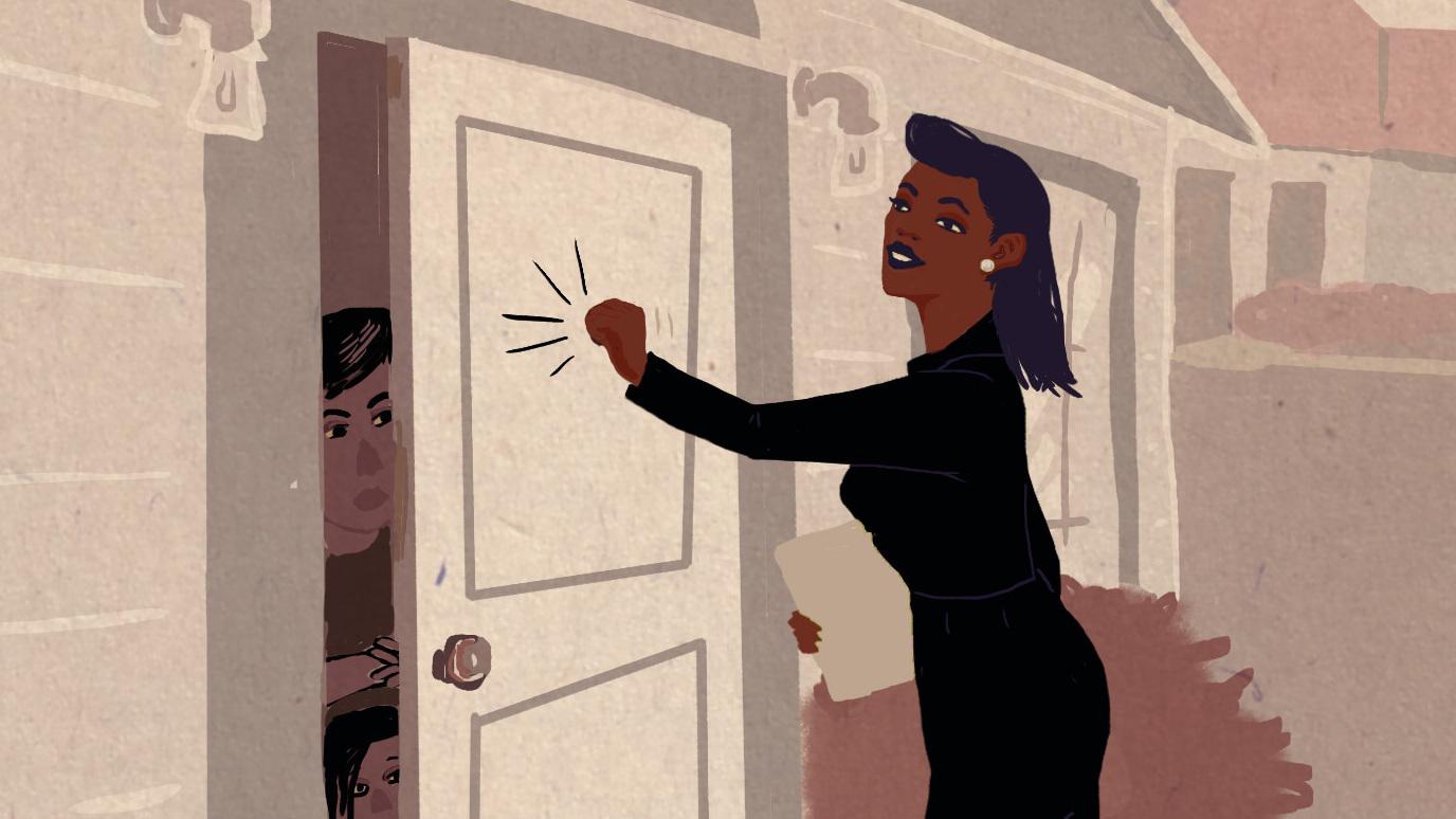People On Sides Of Door : Teachers go door knocking in nashville npr ed