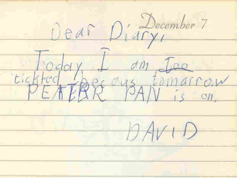 """On Dec. 7, 1960, when David Bianculli was 7 years old, he wrote in his diary how """"tickled"""" he was that Peter Pan was going to be on TV."""