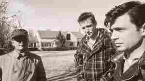 Not long after the publication of In Cold Blood, the book was adapted into film. Here, Truman Capote (left) stands beside Scott Wilson (center) and Robert Bla