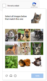 On mobile devices, Google's new reCAPTCHA software prompts users to match a clue with corresponding images.