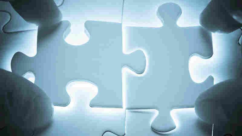 Puzzle pieces unite.