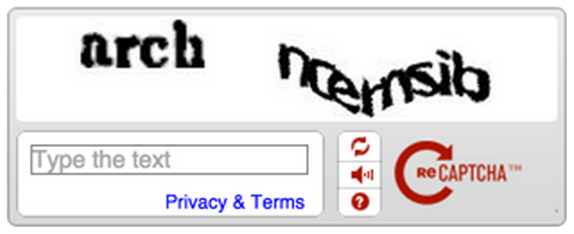 Old CAPTCHAs required the user to decipher complicated word puzzles to verify that they were not an automated bot.
