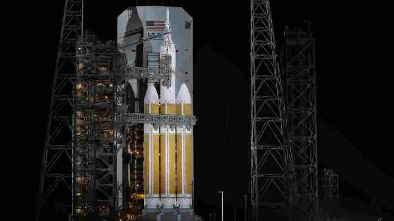 NASA's Orion spaceship early Thursday in Cape Canaveral, Fla.