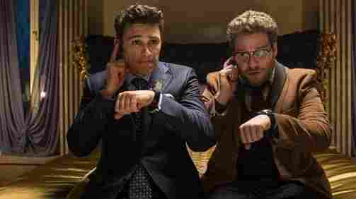 "James Franco (left) and Seth Rogen in The Interview. The North Korean dictator promised ""merciless counter-measures"" if this film was released."