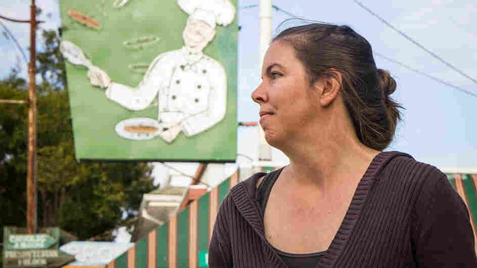 """Kristen Nevedal co-founded the Emerald Growers Association, a group of 400 marijuana farmers from across California. The Garberville resident says that """"trimmigrants"""" are straining her small town."""