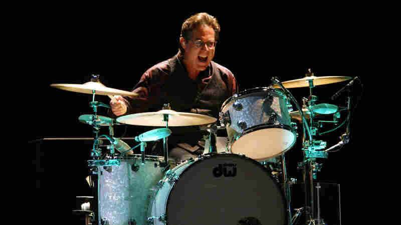 Drummer Max Weinberg performs with Bruce Springsteen and the E Street Band in East Rutherford, N.J., in August 2002.