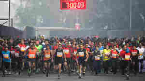 India's new wave of runners is ready to race. This crowd took off at the Airtel Delhi Half Marathon on Nov. 23.