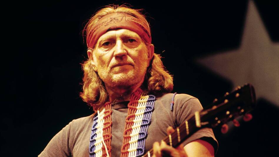 Willie Nelson, seen performing in the U.K. in 1980, is one of the featured artists in Oxford American's Southern Music issue about Texas. (Getty Images)
