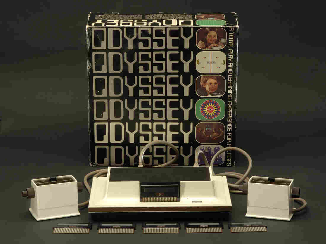 """The Magnavox Odyssey — derived from Ralph Baer's """"Brown Box"""" invention — was sold as the first home video game system in 1972."""