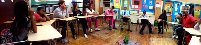 The circle sessions are designed to resolve conflicts and build school community.