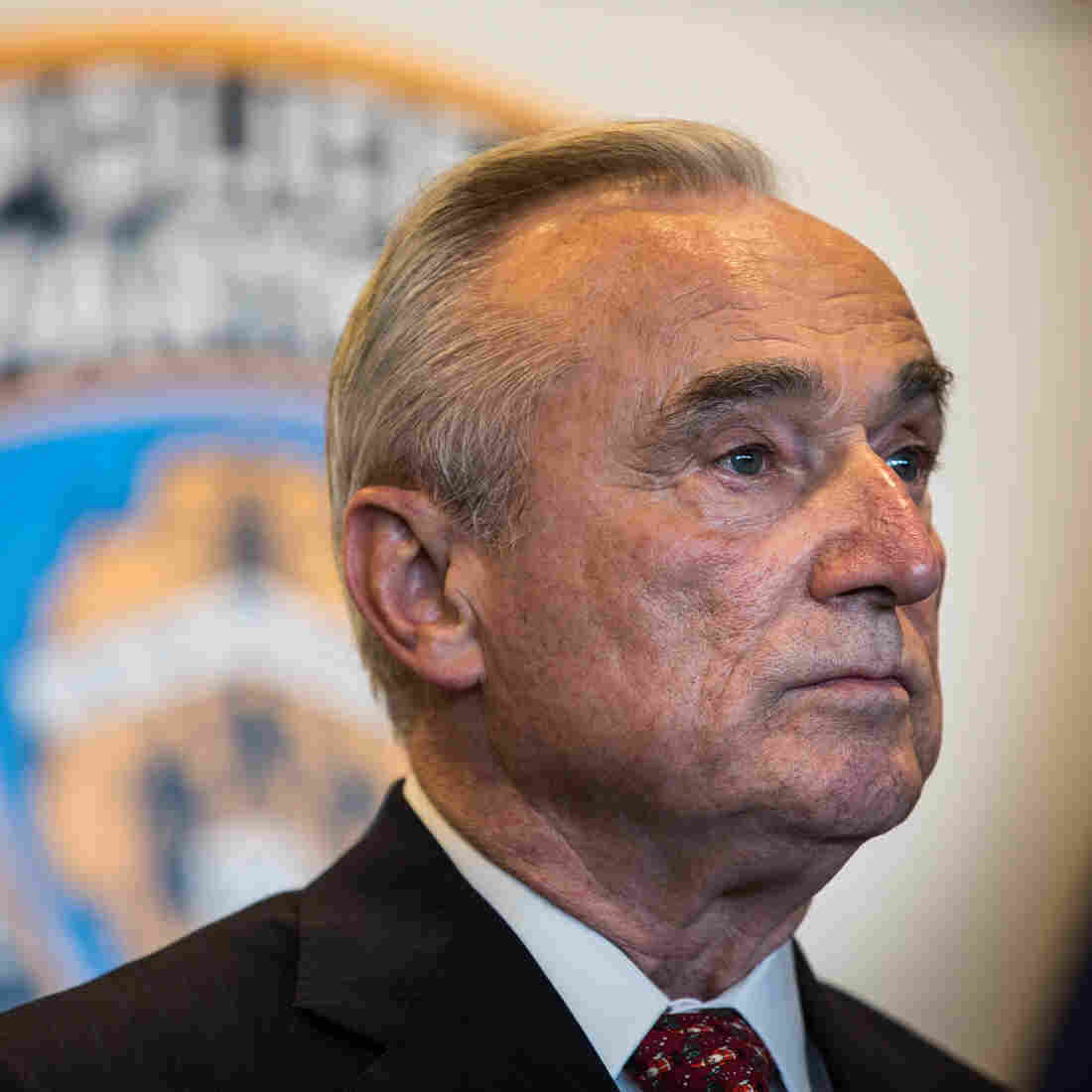 New York Police Department Commissioner William Bratton attends a press conference after witnessing police being retrained under new guidelines at the Police Academy on Dec. 4.
