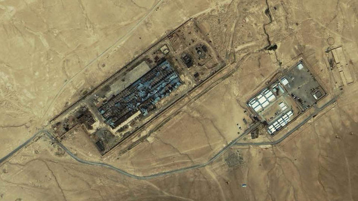 An IKONOS satellite image of a facility near Kabul, Afghanistan taken on July 17, 2003. It shows what is reportedly the largest CIA covert prison in Afghanistan, code-named the Salt Pit.