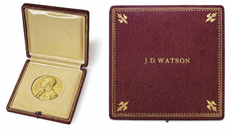 After $4.75 Million Auction, Watson Will Get Nobel Medal Back